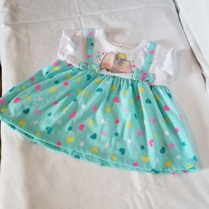 Disney Baby Dumbo Dress Sz 3/6 months